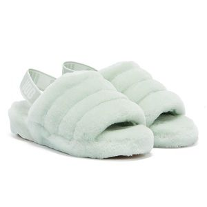 UGG   Fluff Yeah Retro Mint Slide sandals